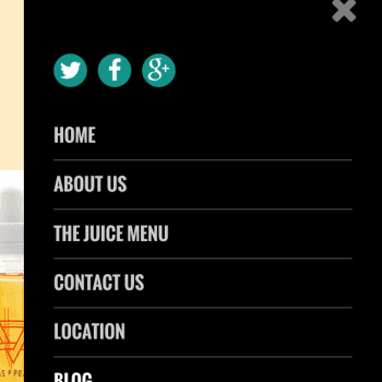 The Juice Box Chiefland -Responsive Website Menu
