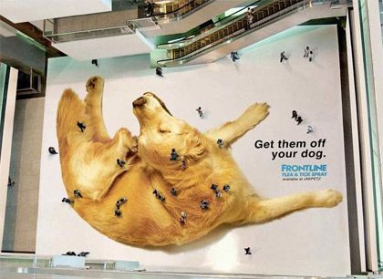 Frontline Arial Mall Advertisement - Guerilla Marketing - FogPusher