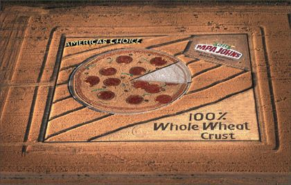 Papa Johns Arial Advertisement Crop Circle