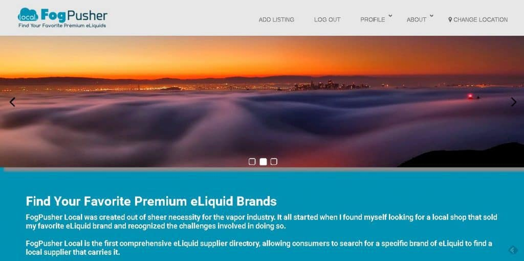 FogPusher Local: Find Your Favorite Premium eLiquid Brands