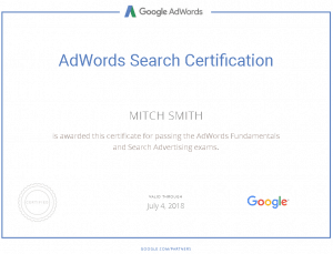 Mitch_Smith_Google_Adwords_Search_Advertising_Certification