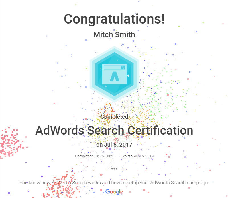 FogPusher-Mitch Smith Adwords Search Certification