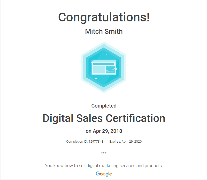 FogPusher-Mitch Smith Digital Sales Certification