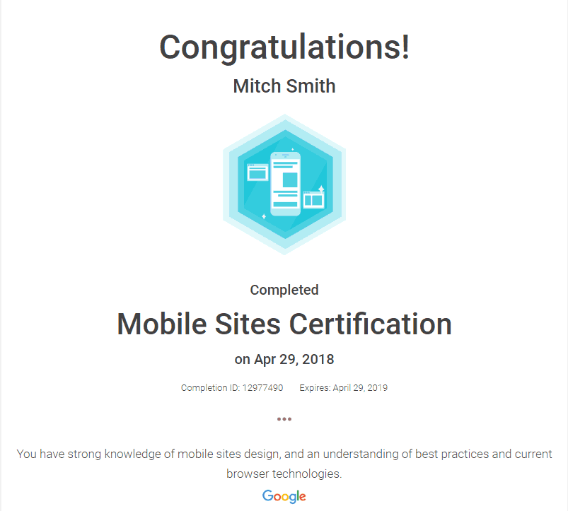 FogPusher-Mitch Smith Mobile Sites Certification